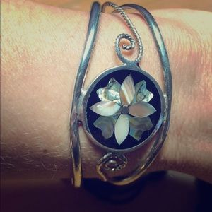 Jewelry - -Sterling Silver Bracelet with Mother of Pearl